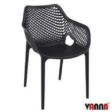 Vanna Spring Arm Chair - Black